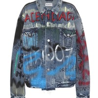 Like a Man Logo denim jacket