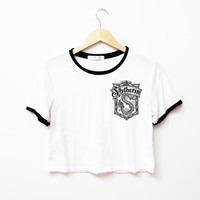 Slytherin Ringer Tee