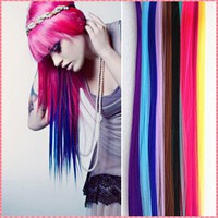 Fashion headwear clip for women Long Synthetic Clip In hair accessories extensions Hairpiece Party Highlights Punk pieces #JO006