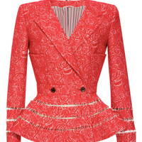 Lace Printed Crepe De Chine Dress by Thom Browne Now Available on Moda Operandi