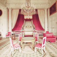 Paris Photo. Fine Art Photography. Versailles Princess Room. Marie Antoinette. Fuchsia Pink White Gold. Rococo. Nursery Art. Size A4