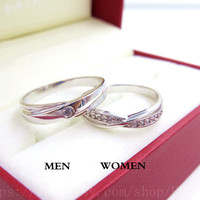 2 Rings Free Engraving infinity Ring, Wedding Band Couple Rings, Lover rings, his and hers promise ring sets , wedding rings, matching rings