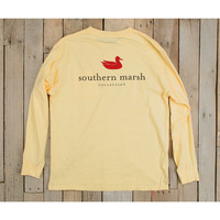 Southern Marsh Authentic Long Sleeve Tee- Light Yellow