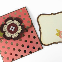 Gift Card Holder, with message slip, All occasion gift card holder, Mother's Day, Birthday, Valentine, Teacher's Appreciation day, Thank you