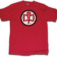 The Greatest American Hero Distressed Logo Red Adult T-shirt - Shirts Sheldon Has Worn - | TV Store Online