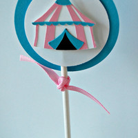 Girl Circus Party Cupcake Toppers (set of 12)
