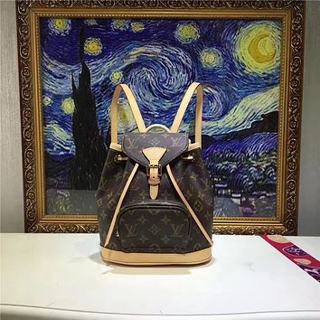 LV Louis Vuitton MONOGRAM CANVAS BOSPHORE BACKPACK BAG