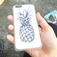Modern Pineapple iPhone Case