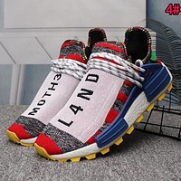 Adidas Human Race NMD Trending Woman Men Casual Sport Running Shoes Sneakers 4# Red I/A