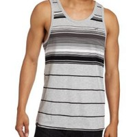 Southpole Men's Tank Top With Engineered Pin Stripes, Heather Gray, XX-Large