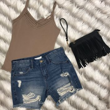 Sun Kissed Tank Top: Mocha