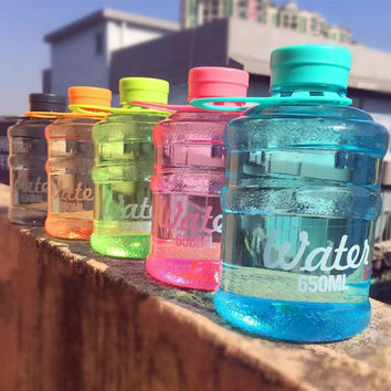2016 New Mini barreled sealing bottles with creative students water bottle 650ml for traveling biking sports