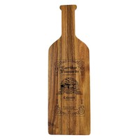 Ironwood Gourmet Acacia Wood Wine Bottle Chopping Board (Brown)