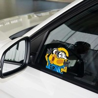 Funny Car Sticker and Decals Cartoon Minions Hit The Windos Cute Styling Car Accessories Car Window Decal