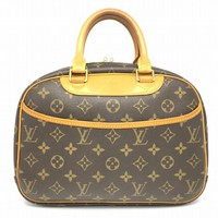 Louis Vuitton Monogram Canvas Trouville Tote Bag Handbag Brown M42228 LV