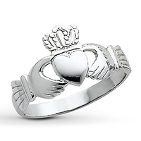 Claddagh Ring 14K White Gold