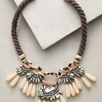 Desideria Bib Necklace by Anthropologie in Purple Size: One Size Necklaces