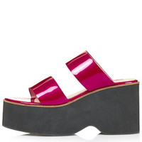 WHISKEY Strap Wedges - Pink