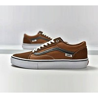 VANS Old Skool Trending Women Men Casual Flats Sport Sneakers Shoes Coffee I-CSXY