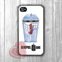 Deadpool with Tardis blue police box parody -i67 for iPhone 4/4S/5/5S/5C/6/ 6+,samsung S3/S4/S5,samsung note 3/4