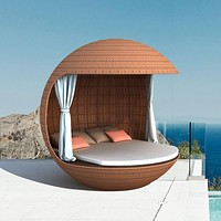 Trendy Ball Shaped Outdoor Rattan Daybed