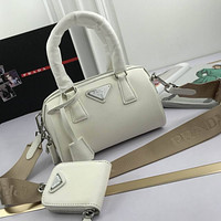 prada women leather shoulder bags satchel tote bag handbag shopping leather tote crossbody 72