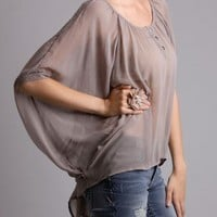 Lush Wish List Oversized Chiffon Top in  Other Ways To Shop New Arrivals at Frock Candy