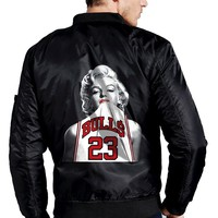 Mens Jacket Marilyn Monroe Flying Jacket M5 Coat Thicken Fleece Winter Jacket US Size Plus Size