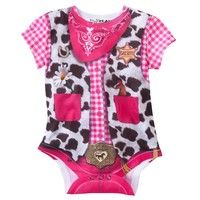 Faux Real Cowgirl Romper - Baby, Size: