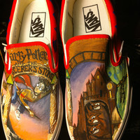 Harry Potter and the Sorcerer's Stone Painted Shoes