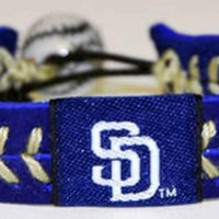 Gamewear MLB Leather Wrist Band - Padres Team Colors
