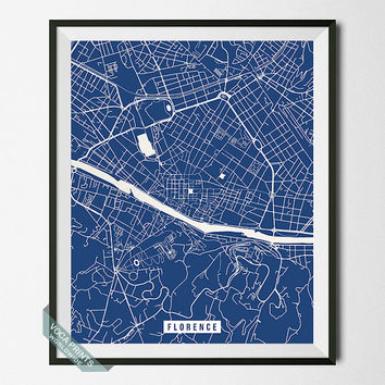 Florence Print, Italy Poster, Florence Street Map, Italy Map Print, Italian Decor, Dorm Decor, Home Wall Art, Office Decor, Back To School