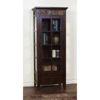Sunny Designs Curio Cabinet In Dark Chocolate