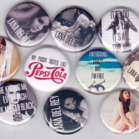 Lana Del Rey - 10 Button Set