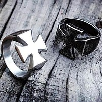 Medieval Vintage Cross Knights Templar Ring
