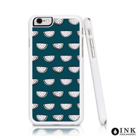 Watermelon Cell Phone Case, Custom illustration in Turquoise and Blue, Hard Plastic for iPhone6 / 6plus, iPhone5, Galaxy s5, or Galaxy s6