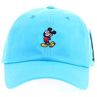 Disney Mickey Mouse Cute Act Charming Baseball Cap Pre Curved Hat (3. Blue)