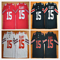 College Football Jerseys 15 Ezekiel Elliott Jersey Ohio State Buckeyes Cheap Sports Jersey White Limited Red Accept Mix Orders