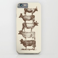 Cow Cow Nuts iPhone & iPod Case by Speakerine / Florent Bodart | Society6