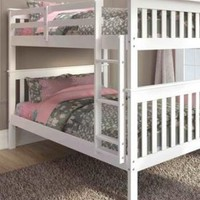 Sarah Full White Bunk Bed