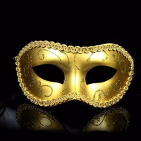 PEAPGB2 Men/Women Costume Prom Mask Venetian Mardi Gras Party Dance Masquerade Ball Halloween Mask Fancy Dress Costume