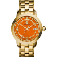 37mm Tory Stainless Steel Bracelet Watch, Orange/Golden - Tory Burch Watches