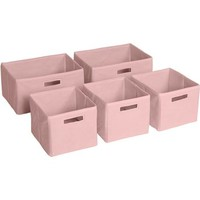 Guidecraft Set of 5 Storage Bins, Pink - Walmart.com