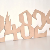 Unfinished Wood Numbers - Harry Potter Style 0-9
