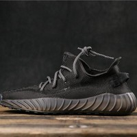 Adidas Yeezy 350 V3 Boost Black Running Shoes - Best Online Sale
