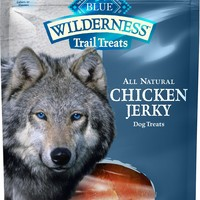 Blue Buffalo Wilderness Trail Treats Chicken Jerky Grain-Free Dog Treats, 3.25-oz