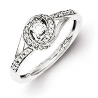 Sterling Silver 0.250 ctw Diamond Ring