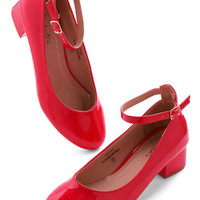 ModCloth Minimal Literary Luck Heel in Red