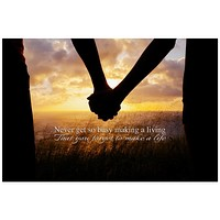 Make a Life Inspirational Quote Rolled Canvas Wall Art