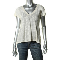 Marc by Marc Jacobs Womens Linen Burnout Casual Top